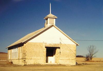 1 10 2015 Abandoned church, near Hayes, KS, mar 1995 PICT6835