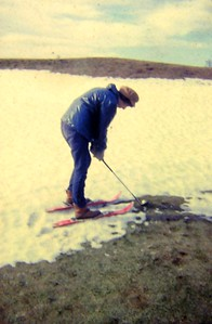 1 6 2015 Jan & Ski- golf, feb 1966, Saranac Lake GC  a