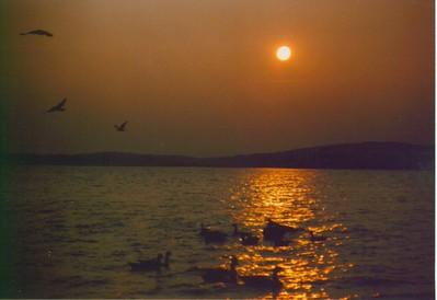 1 16 2015 Tupper Lake sunset, aug 25, 1991