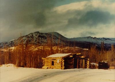 1 26 2014 Abandoned Cabin along Alaska Hwy, Yukon Territory, Cracker Creek, Dec, 1972