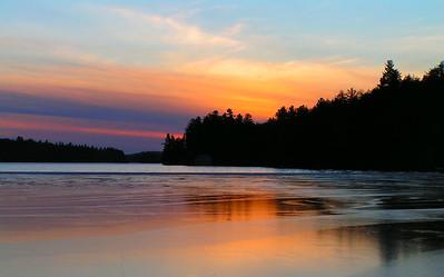 1 7 14 first day of winter,  Lower Saranac Lake, Ampersand Bay, sunset, 417pm, dec 21, 2006