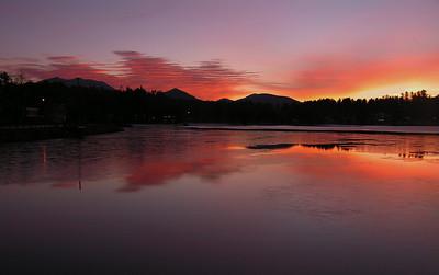1 21 2014 Dawn on Lake Flower,  Christmas Day, 2006c