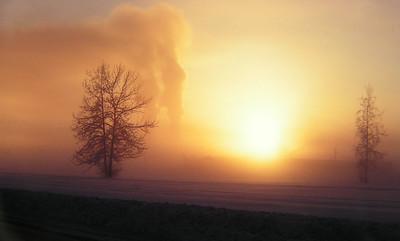 1 23 2014 Ice Fog, -45F,  Fort Wainwright, Fairbanks, Alaska, Feb 1972