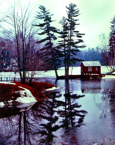 1 25 2014 Echo Lake, Vt, along Rt100, Apl, 1970