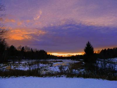 1 13 2014  Saranac Lake High School Pond, sunset, nov 25, 2013 DSCN2855ss