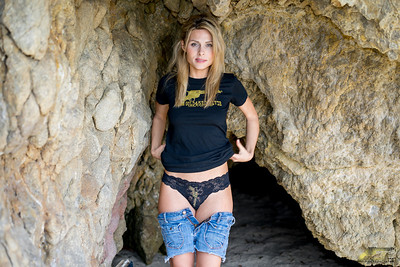 PRETTY MODEL Gold 45 Goddess in Sea Cave!! Sony A7R RAW Photos of Blond Bikini Swimsuit Model Goddess! Carl Zeiss Sony FE 55mm F1.8 ZA Sonnar T* Lens! Lightroom 5.3!