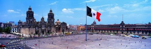 m002, Fig 1.2, Main Plaza (Zocalo) in Mexico City<br /> Choice 5 of 6