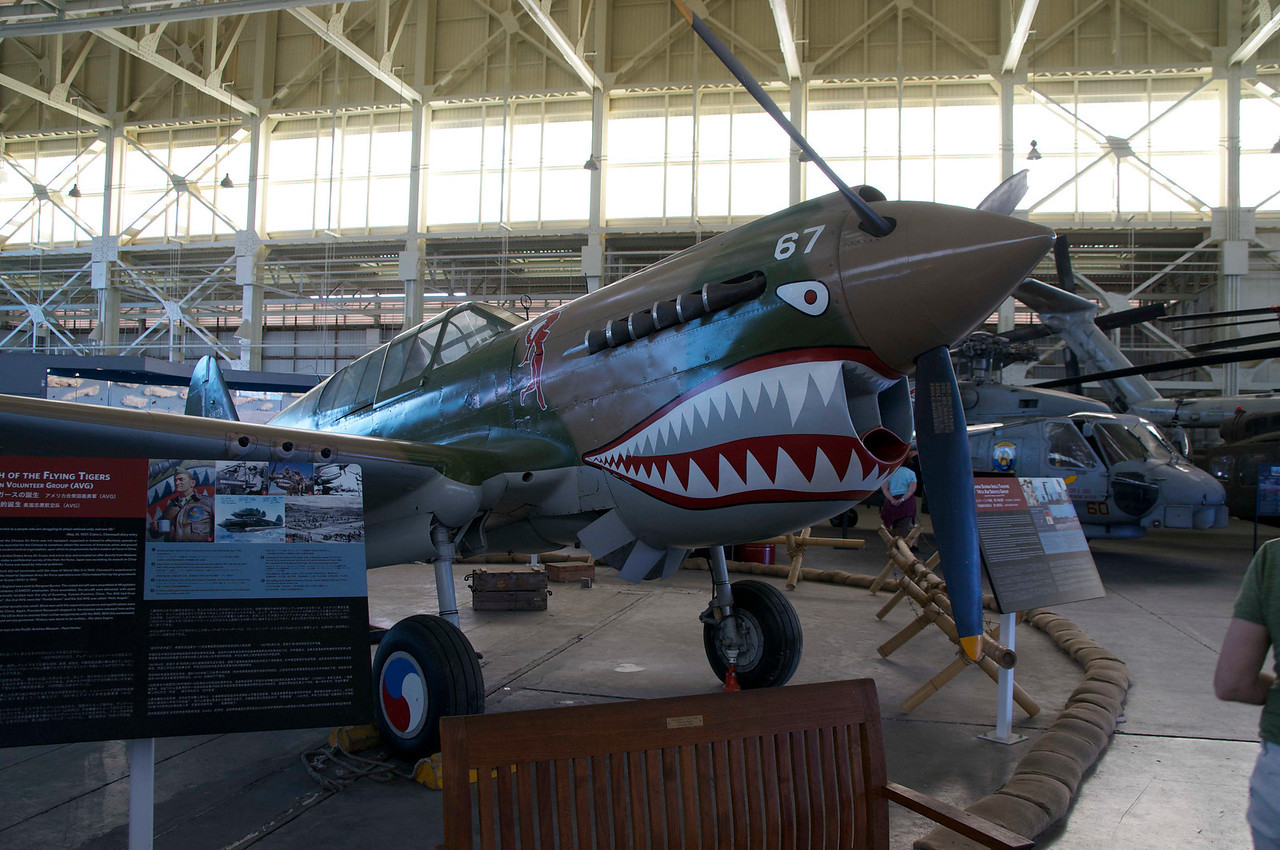 The Flying Tiger, a World War II fighter used in China.
