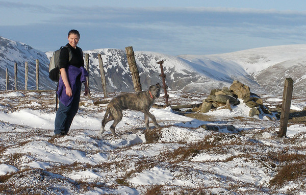 Padaidh's first hill, the gentle Monamenach, and he finds that snow is great fun too.<br /> <br /> 13/01/12
