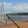 Pad inspects the salmon nets at Lunan Bay.<br /> <br /> 17/06/13
