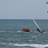 Rescue 1 (windsurfer) makes a getaway