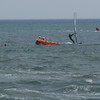 There were actually two windsurfers creating a platform Rescue 1 leaves as rescue 4 (the boat arrives) Rescue 3 (helecopter) hovers above