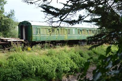 59719 Class 115 DMU at Churston Sidings  29/08/15.