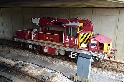 DRP81523 OTP Crane at Churston Station  29/08/15.