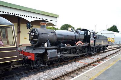 4-6-0 7827 'Lydham Manor' at Churston Station  29/08/15.