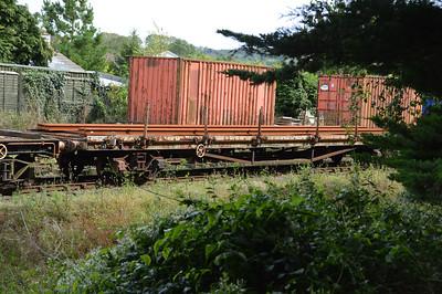 B941841 42t Bogie Bolster at Churston Sidings  29/08/15.