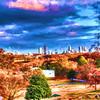 Atlanta skyline form the West End