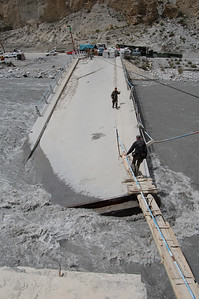 Our first look at the collapsed bridge...