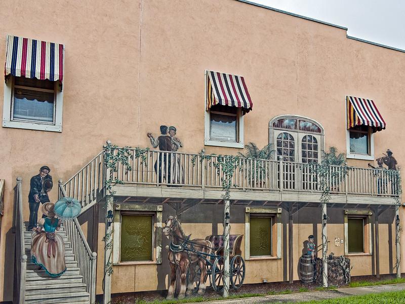 """Bygone Days""  Mural in Palatka, Florida"