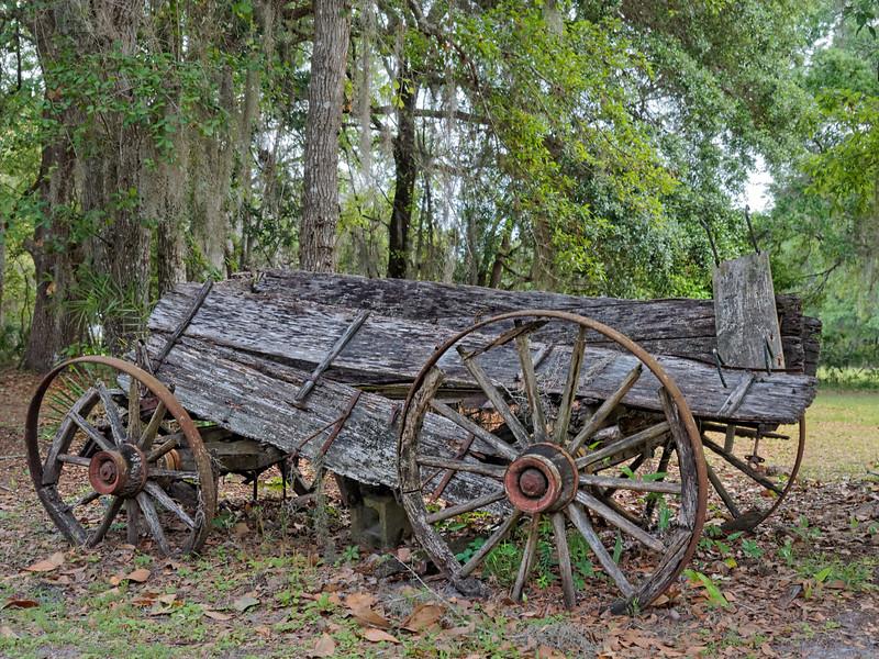Antique Wagon near St Paul's Episcopal Church in Federal Point