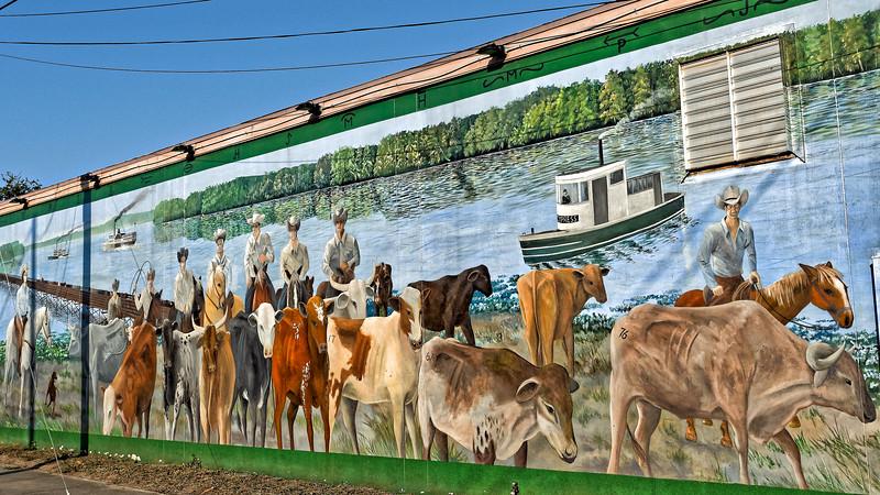 Cattle Drive to Paynes Prairie Mural