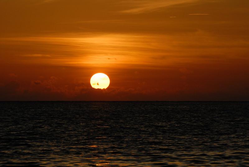Sunset off Carp Island Resort
