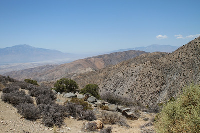 Overlook at the park down into the valley. Palm Springs is straight ahead and below
