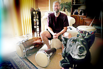 Rod, drums and dog