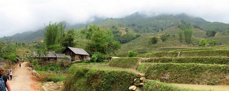 Rice terraces in a native village near Sapa, Vietnam
