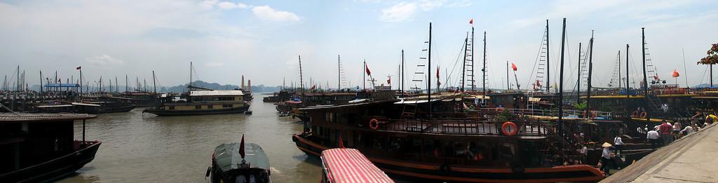 Halong Harbor in Haiphong, Vietnam