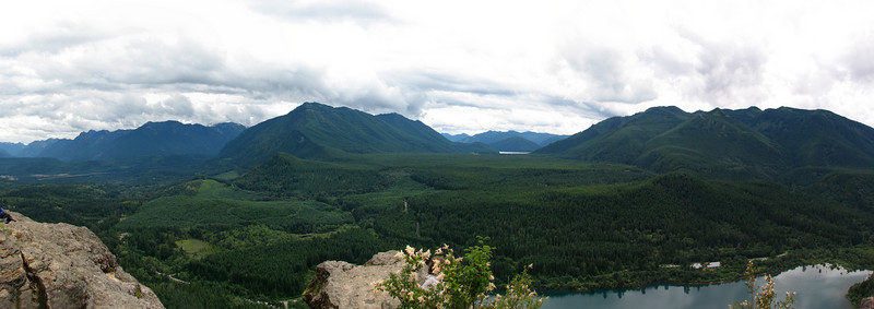 Looking out from Rattlesnake Ridge, near North Bend, WA
