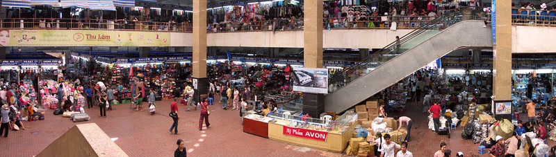 Interior of Dong Xuan Market, Hanoi, Vietnam