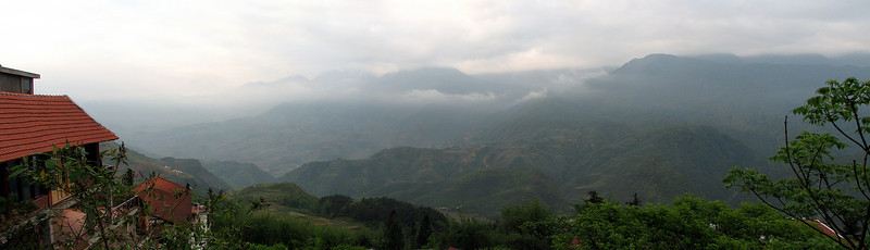 View of the mountains from Cat Cat Hotel, Sapa, Vietnam
