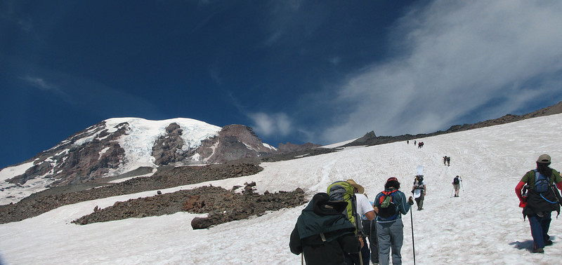 Heading towards Camp Muir on Mt. Rainier, WA