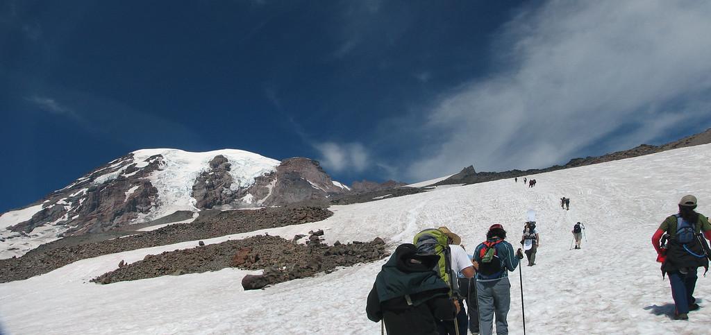 Heading towards Camp Muir on Mt. Rainier, WA