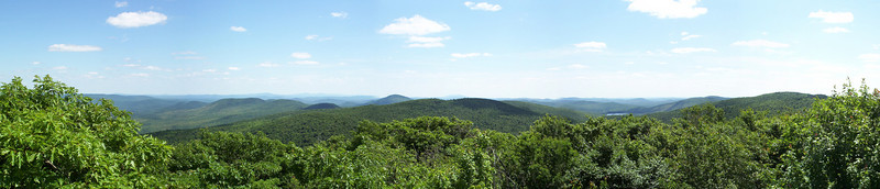 Vermont and New Hampshire from the top of Mt. Ascutney, VT.