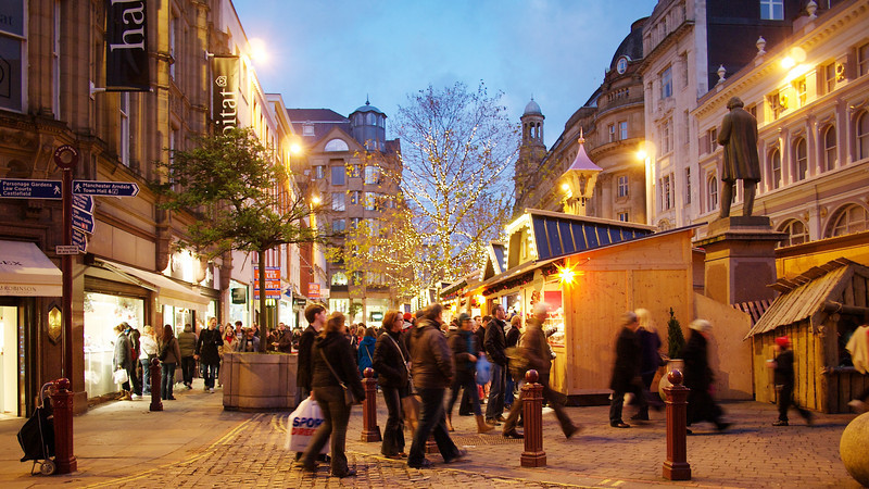 Manchester's Christmas Market, St Annes Square.