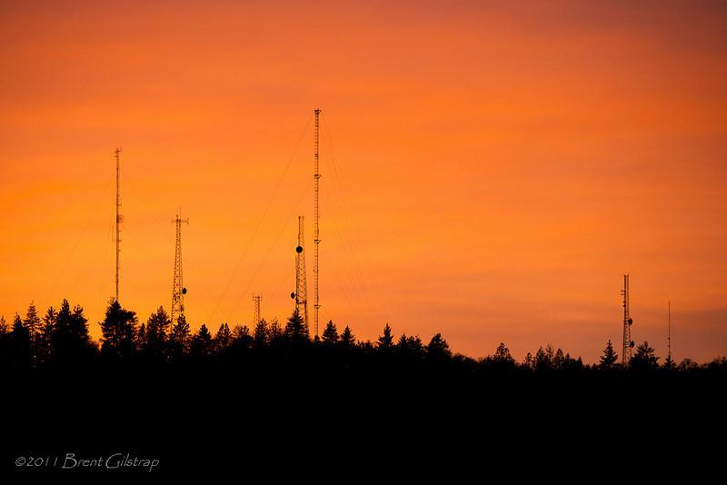 Mt. Bullion Towers at Sunset