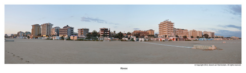 Panorama 4Rimini beach