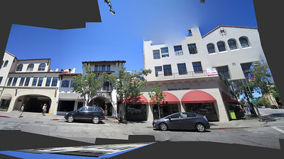 Palo Alto, California. Ramona Street. Weird malfunctions of my photo-stiching software in the right part of the image!