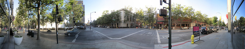 San Jose, California. Intersection of Second and San Fernando Streets