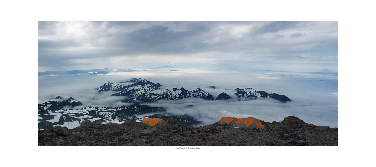 High Camp on Mount Rainier #0012 $99 Custom sizing as large as 17x38