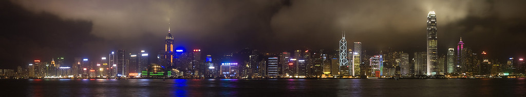 Hong Kong, China #0011 $99 Custom sizing available as large as 15x81 inches