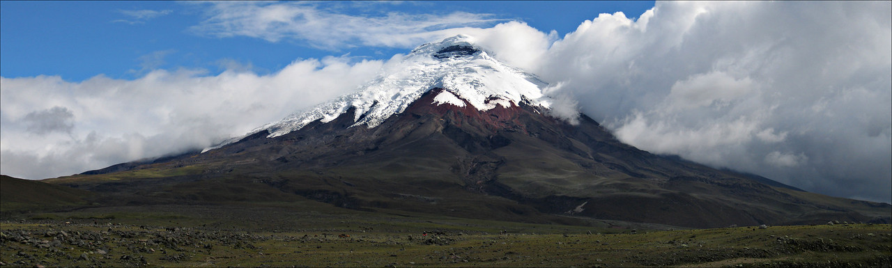 Cotopaxi Volcano, Ecuador #0007 $99 Custom sizing available as large as  15x50 inches