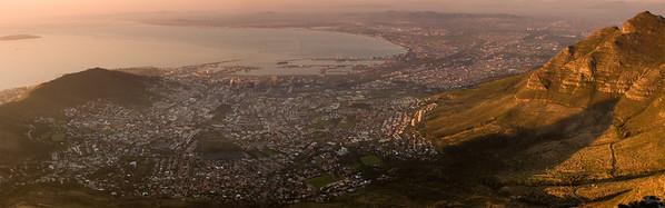 Cape Town from Table Mountain #0014 $99 Custom sizing as large as 15x48