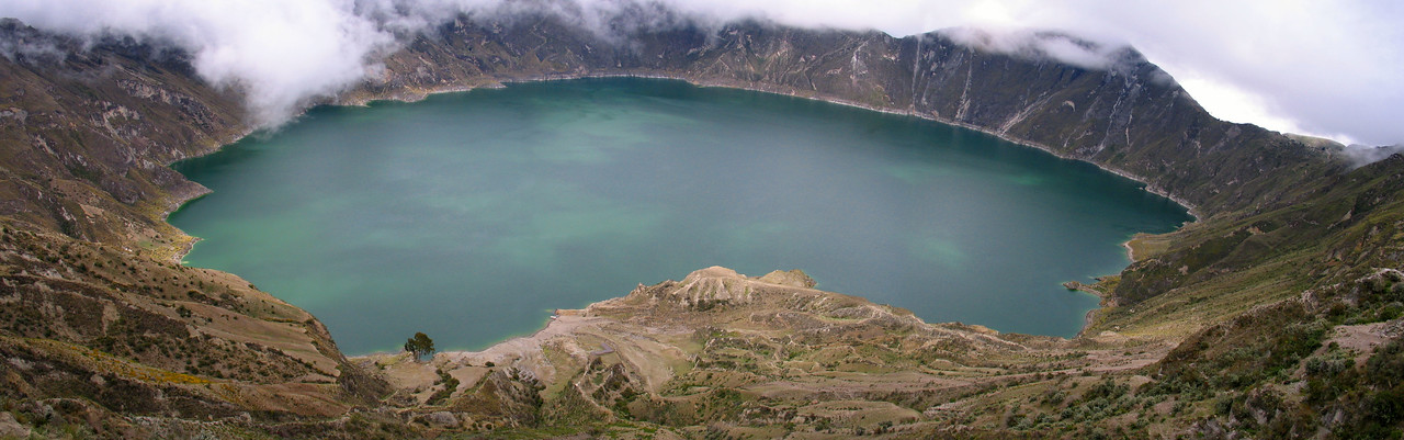 Crater Lake, Ecuador #0009 $79 Custom sizing available as large as  12x38 inches