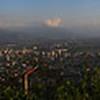 Panaroma of Santiago, Chile from the top of Cerro San Cristóbal.