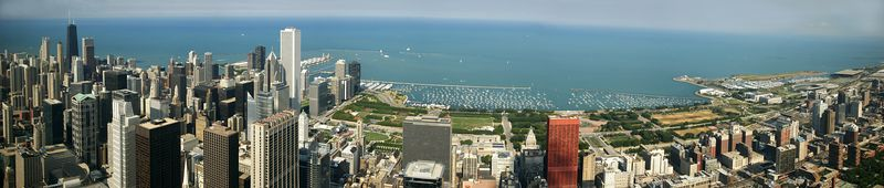 From the top of the Sears Tower in Chicago