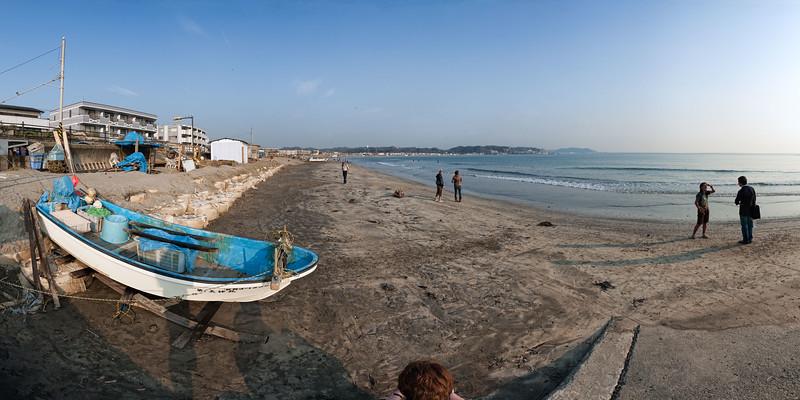 The beach at Kamakura, Japan