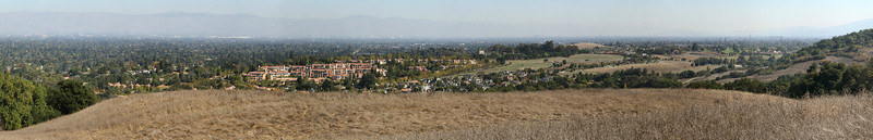 View of the South Bay from the water tank at Rancho.  26-image panorama.